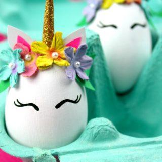 Unicorn Easter Eggs - Easter Egg Decorating Inspiration