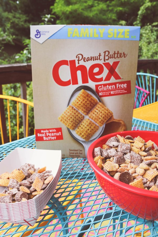 Summer Treat Loaded Peanut Butter Chex party Mix