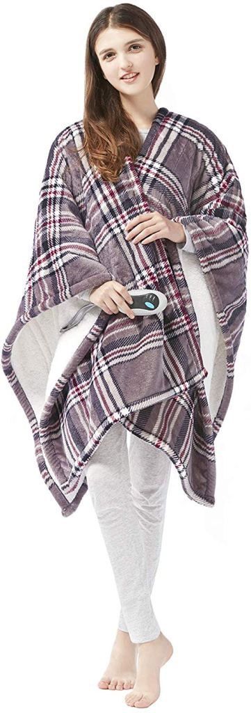 Electric Poncho Wrap Blanket on Amazon