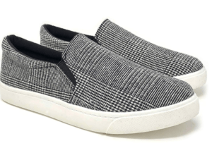 Plaid slip on sneakers from Amazon