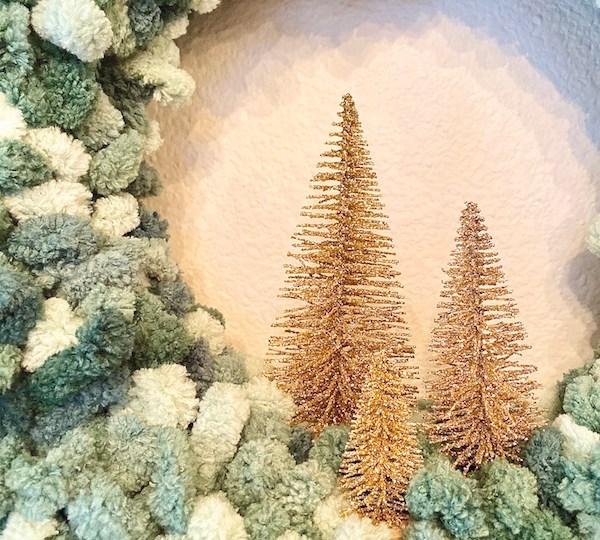 loopy yarn bottle brush trees