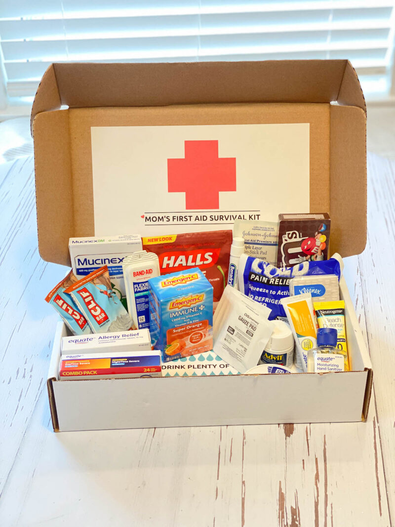 First Aid Cold & Flu Box College Care Package