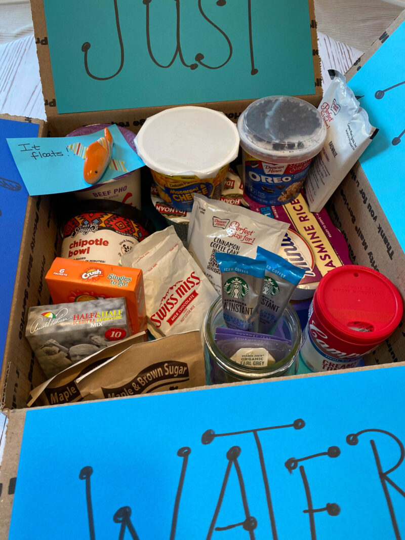 Just Add Water Box College Care Package