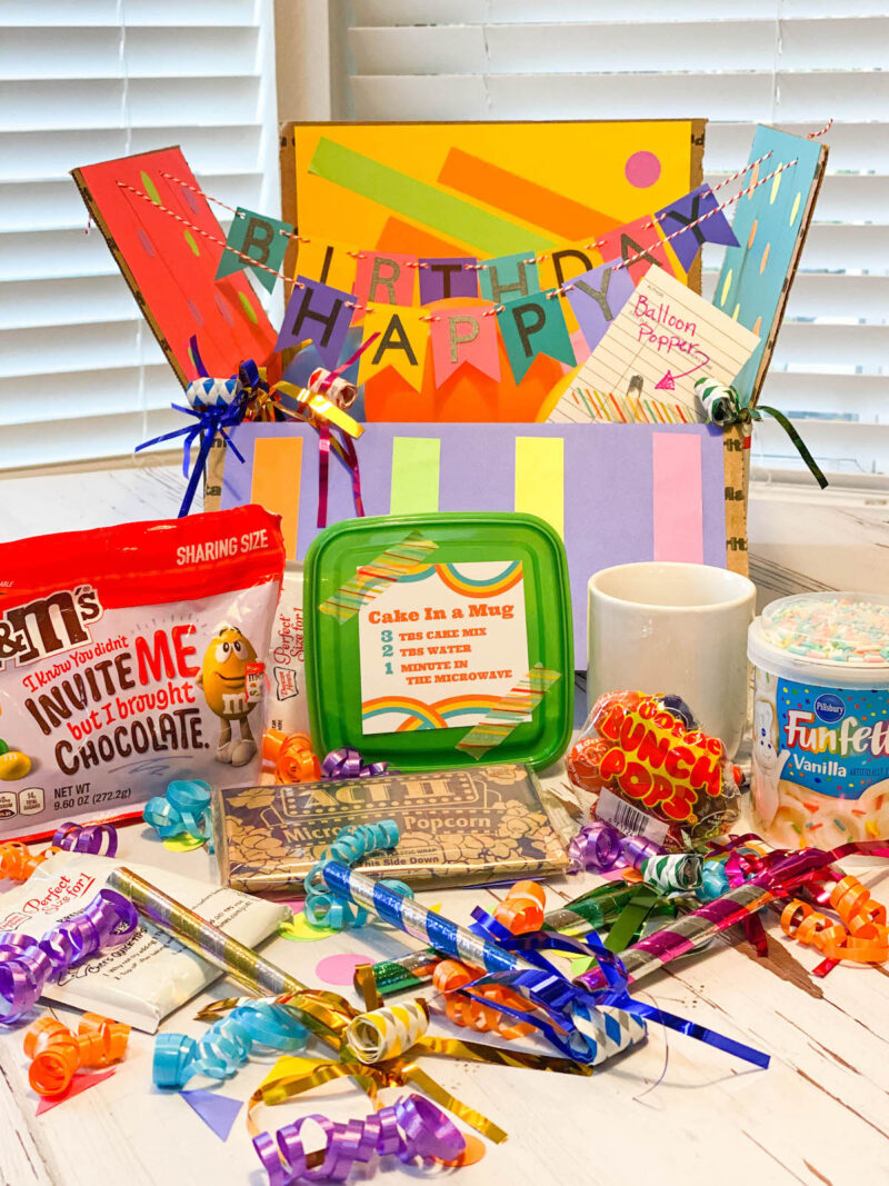 Birthday Box - Creative College Care Package idea!