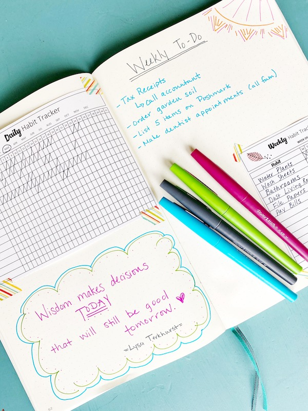 How to use a habit tracker in a bullet journal