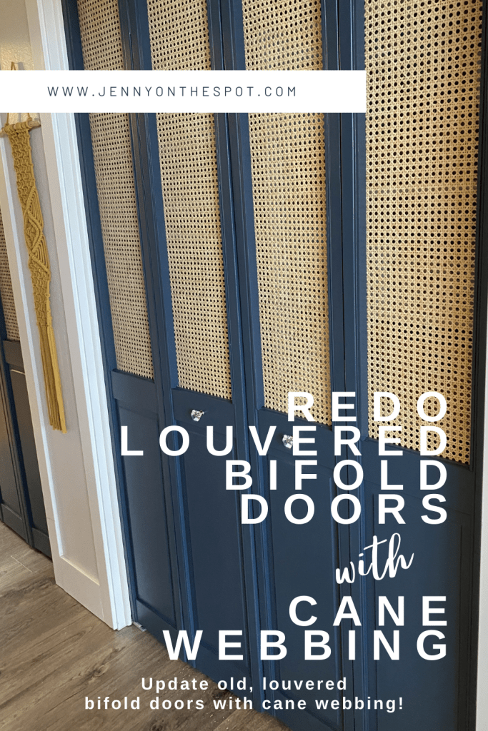 Redo Old Louvered Bifold Doors with cane webbing DIY
