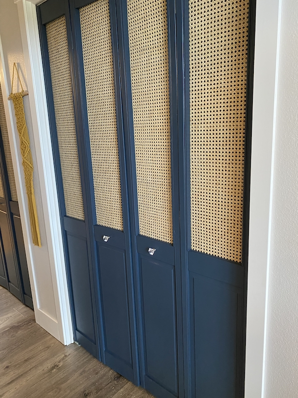 finished bifold louvered doors with cane