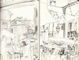 jenny robins - olonzac market sketches