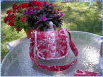 Shoulder bag with free pattern