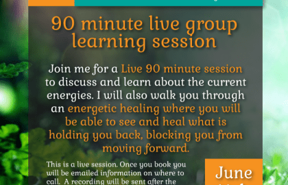 Join me for a 90 minute group call and healing