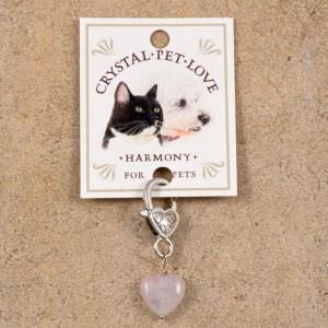 Rose Quartz Pendant for pets by Jenny Schiltz
