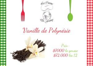 Affiche Vanille Cuisine de Fanny