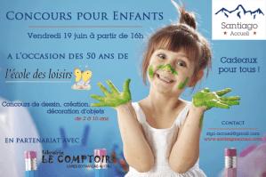 Affiche Concours pour enfants Santiago Accueil