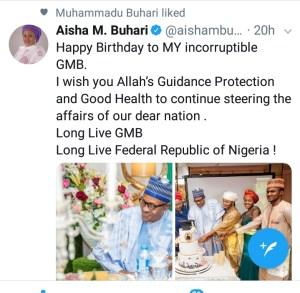Aisha Buhari's tweet