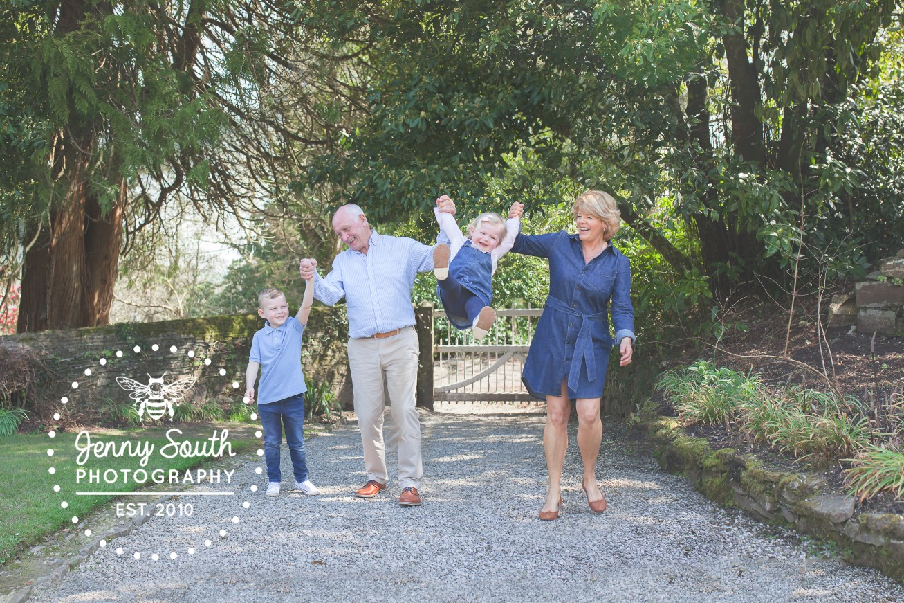 Wonderful family photography session at Cotehele house in Cornwall