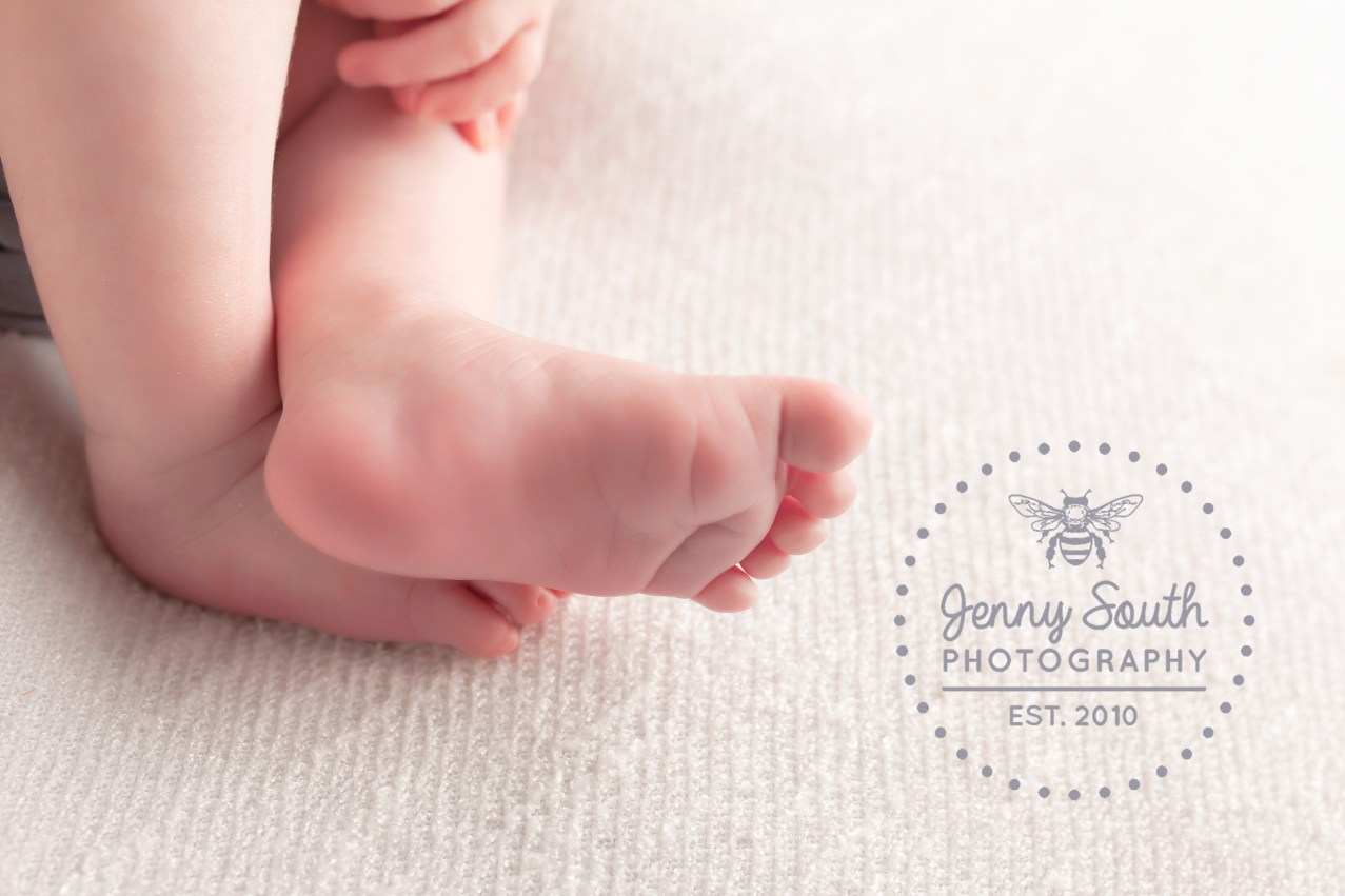 A babies tiny feet captured during a newborn session.
