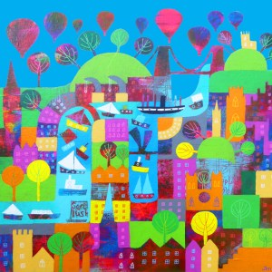 Bristol is a colourful city full over lanmarks harbour boats and its Gert Lush by Jenny Urquhart