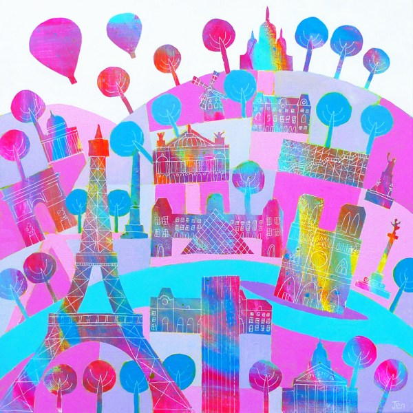 paris eiffel tower by jenny urquhart
