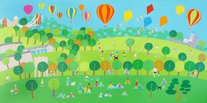 Durdham Downs in Bristol is full of people jogging picnickers and hot air balloons and the zoo by Jenny Urquhart
