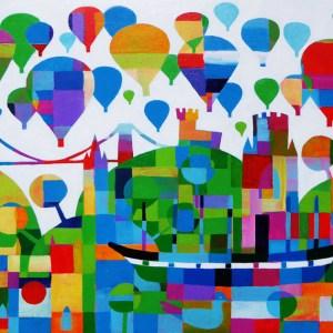 hot air balloon fiesta in bristol by jenny urquhart
