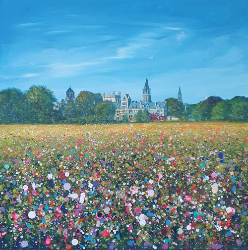 Christchurch College meadow in Oxford full of wild flowers by Jenny Urquhart