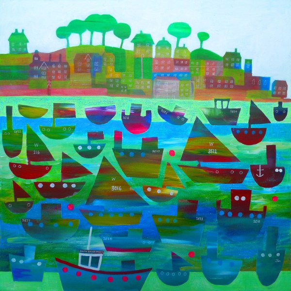 salcombe regatta in devon sailing boats by jenny urquhart