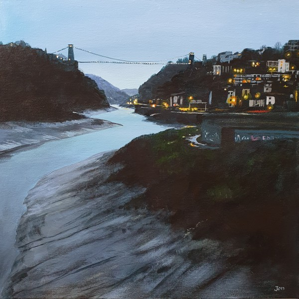 Dusk at the clifton suspension bridge in the avon gorge by jenny urquhart