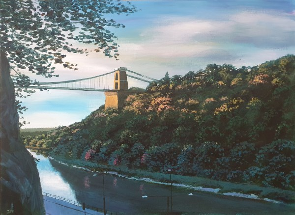 Light on the clifton suspension bridge by Jenny Urquhart