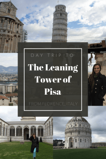 How to take a day trip to see the Leaning Tower of Pisa. Take a train from Florence to Pisa, Italy and you can explore the whole complex in 3 hours flat!