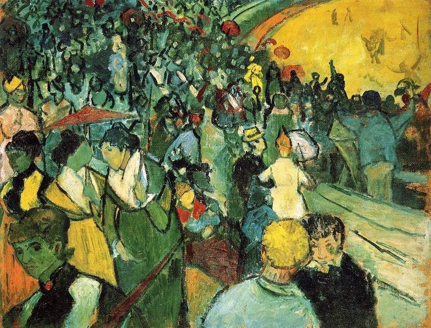 Van Gogh's ampitheater painting