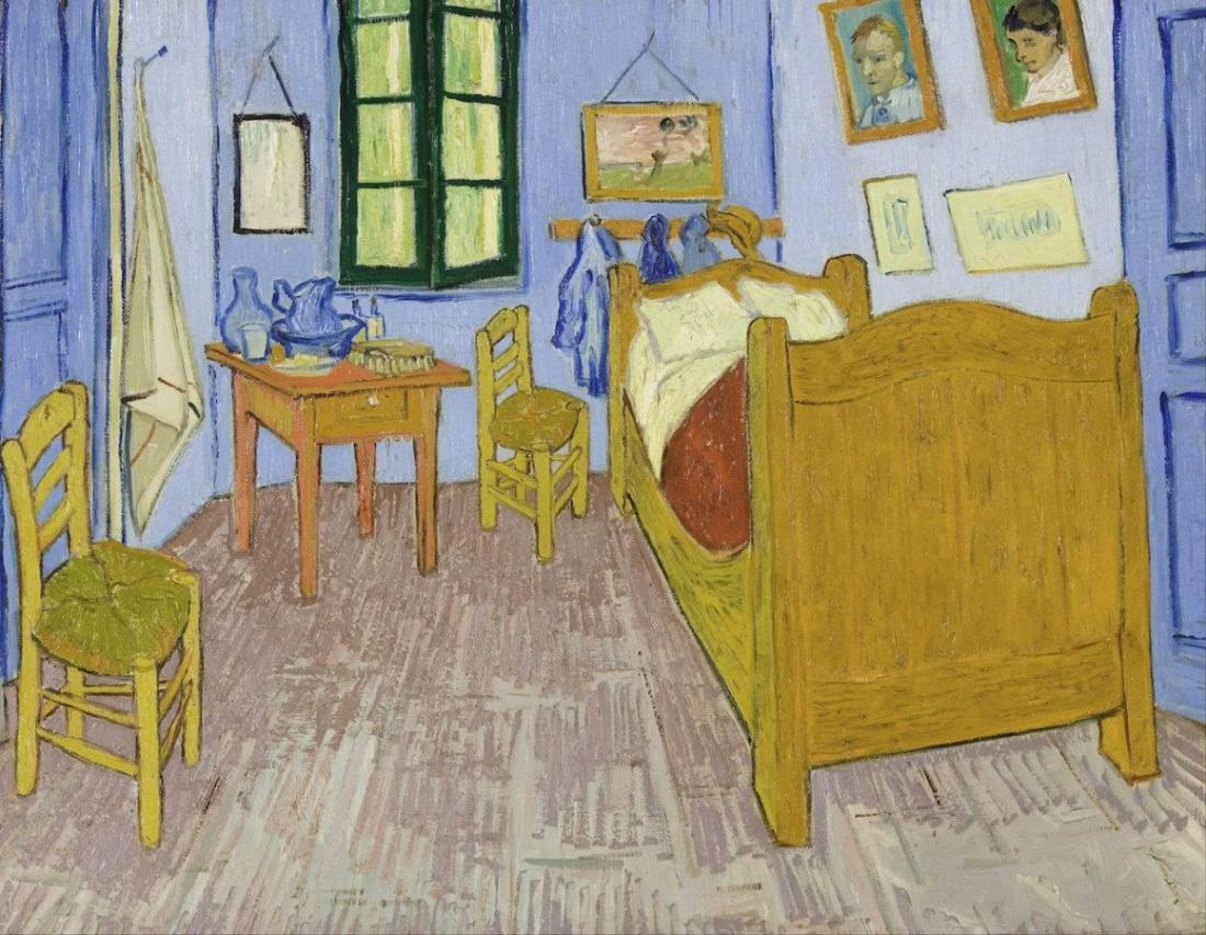 The Bedroom painted by Van Gogh in Arles