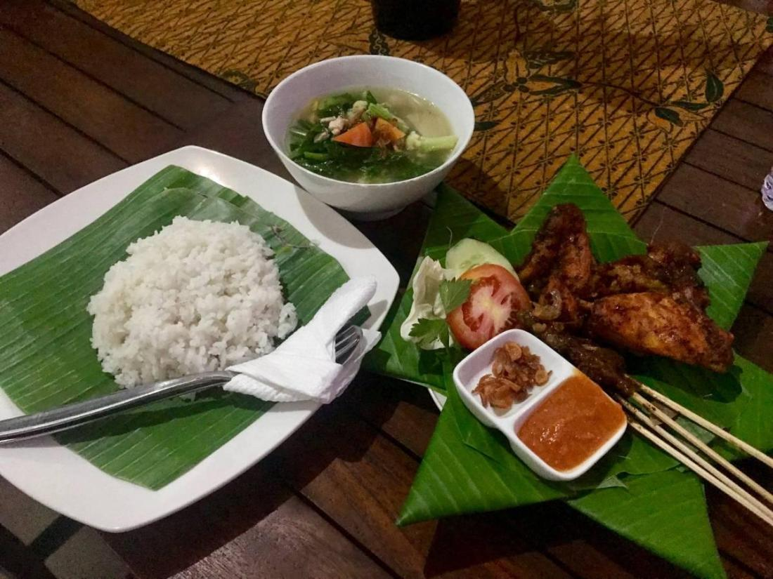 Typical Balinese meal