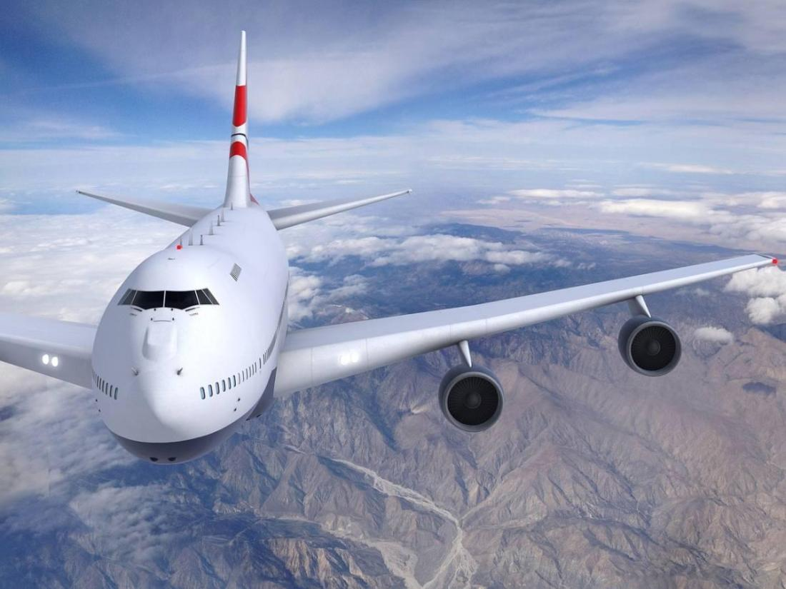Airplane flying budget airline
