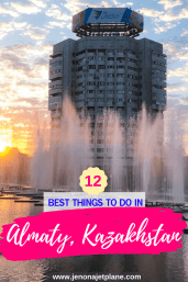 Traveling to Kazakhstan for the first time? From gorgeous cathedrals to busy downtown markets, here are the 12 best things to do in Almaty! #kazakhstantravel #almatykazakhstan #centralasiatravel #travelinspiration #offthebeatenpathtravel #kazakhstanitinerary