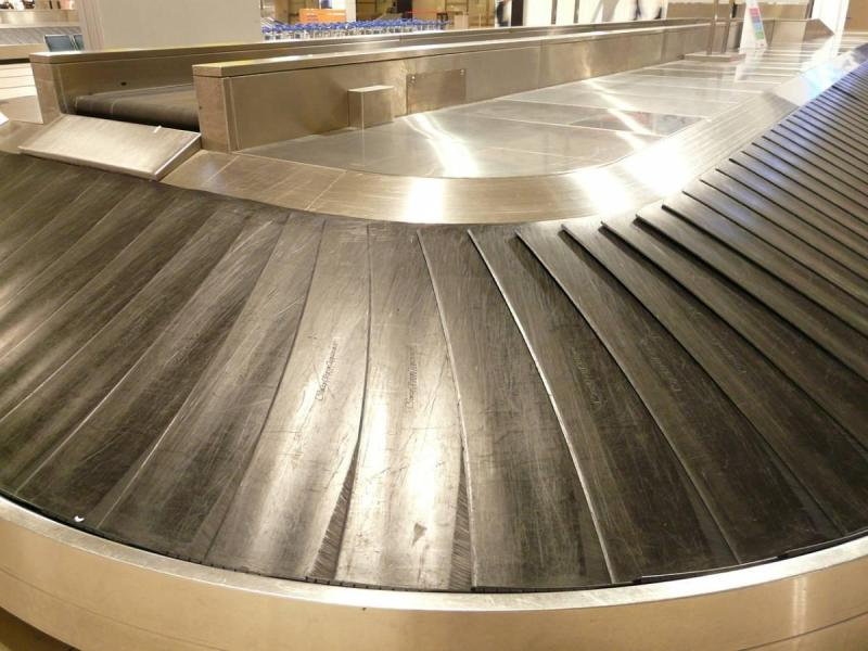 Empty baggage carousel at airport