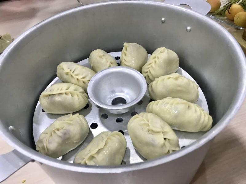 dumplings in a steam cooker