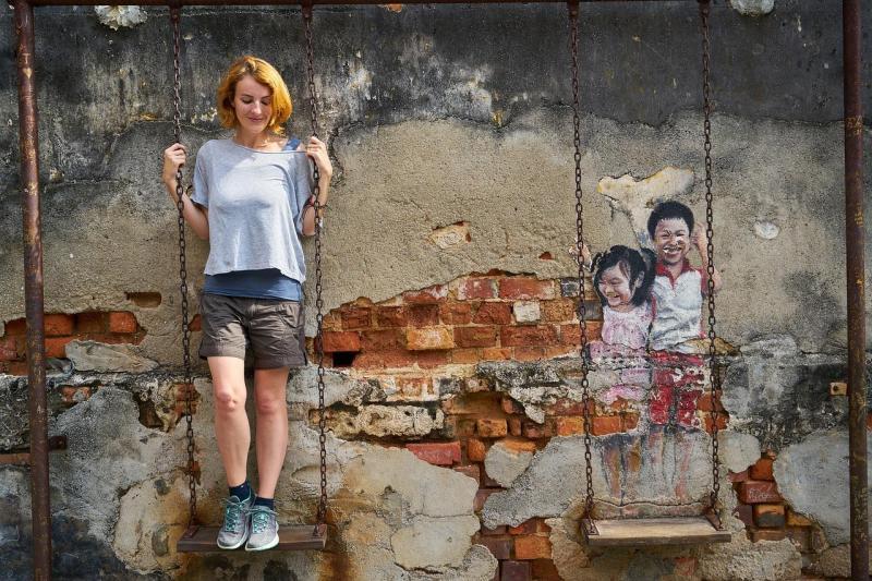 On an interactive street art swing