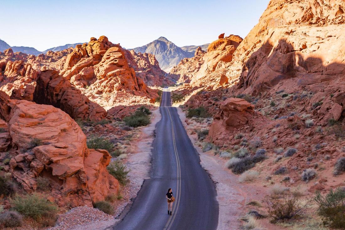 Scenic road between mountains