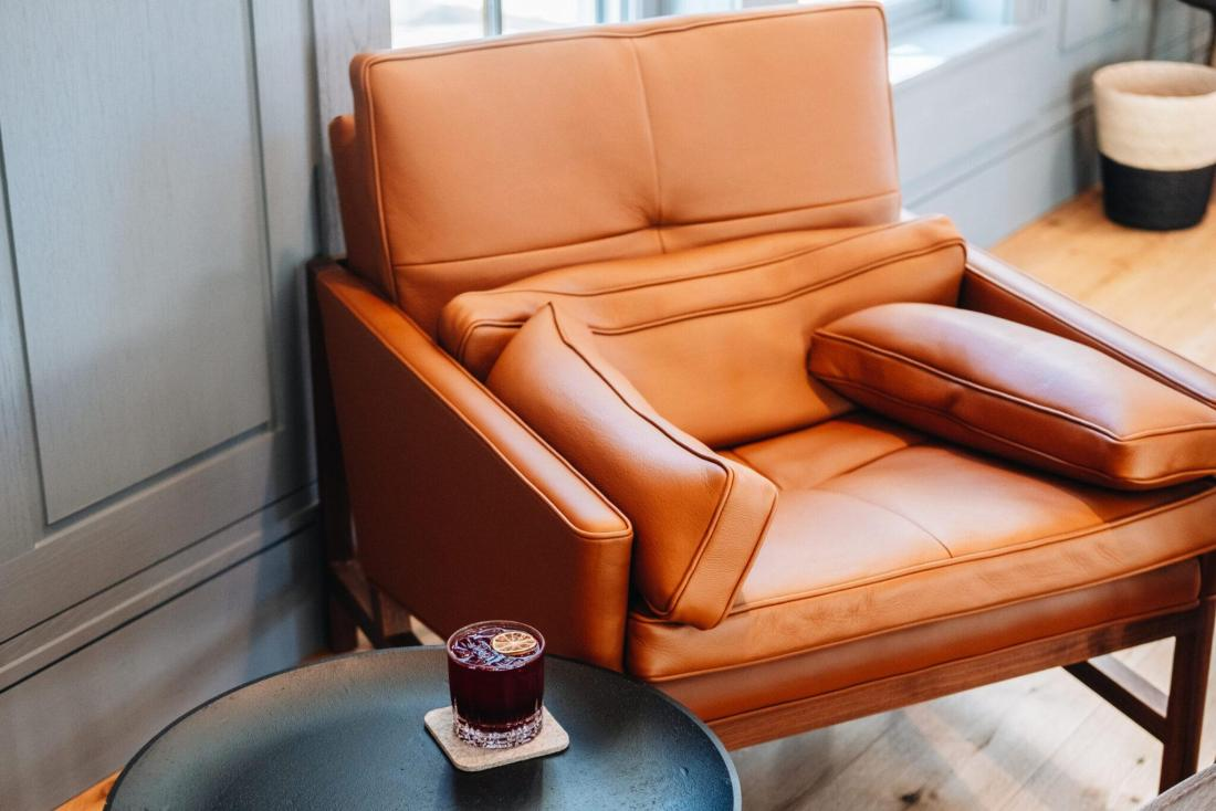 Comfy chair and drink