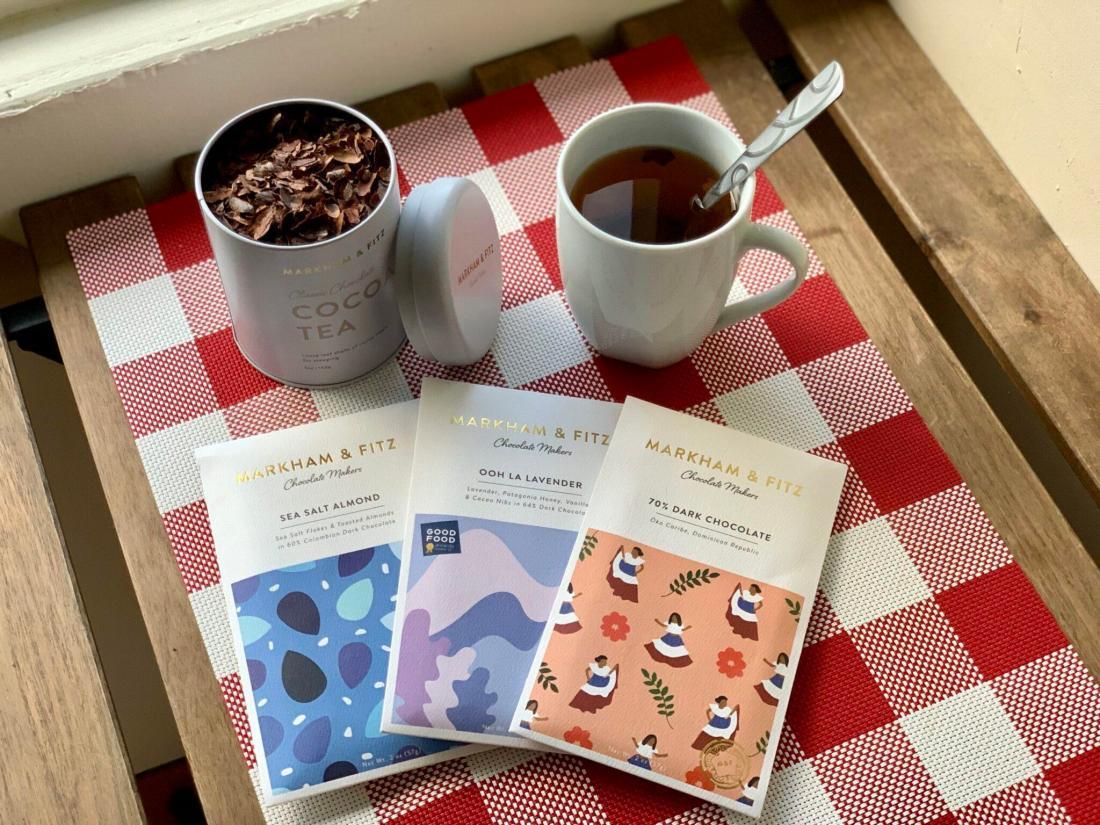 Cocoa bars and tea