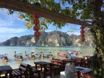 Long-tail boats in Koh Phi Phi