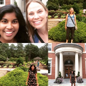 Undergraduate Researcher Catherine Ninah gives a great tour of Duke's campus
