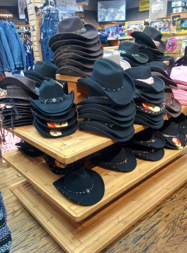 Table of cowboy style hats fm light store steamboat springs co jenphotographs