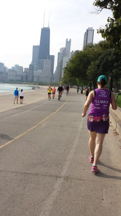 Mile 8 of 12 during training on Chicago's lakefront trail.