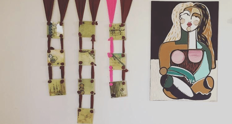 Untitled Quilt and other art in Threads