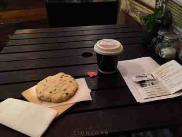 Cookie and tea for breakfast :)