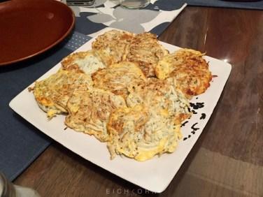 Fried Whitebait omelette.