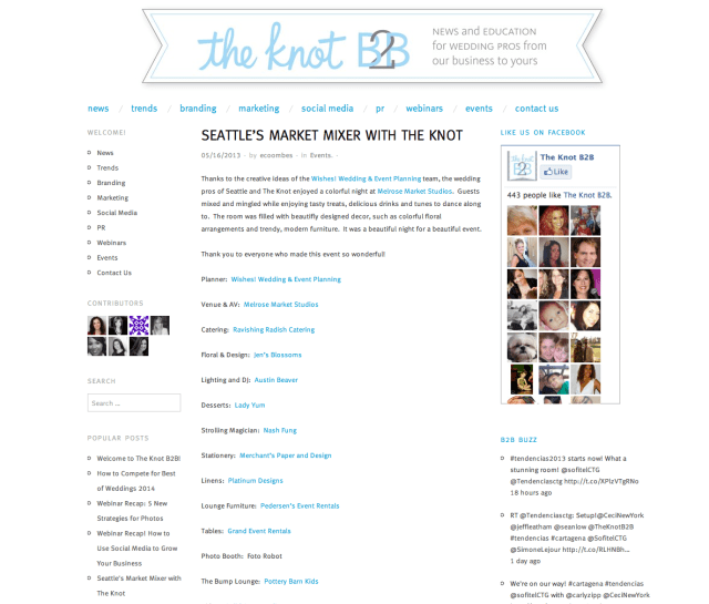 Featured on The Knot B2B