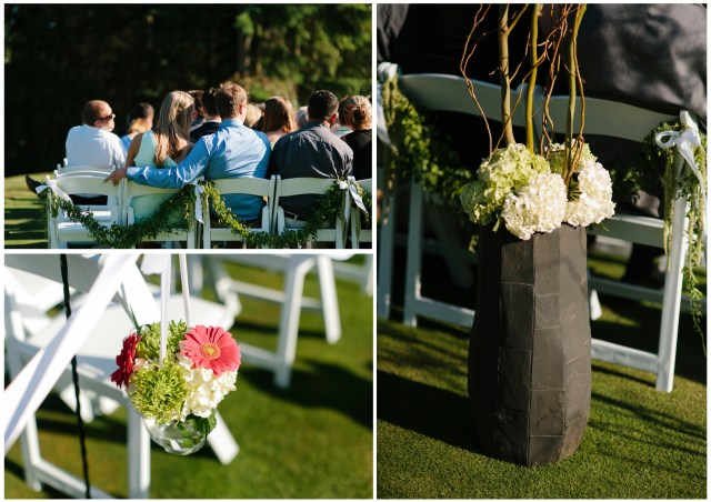 Canterwood Ceremony Details, photos by Jeff Marsh || Design by Jen's Blossoms