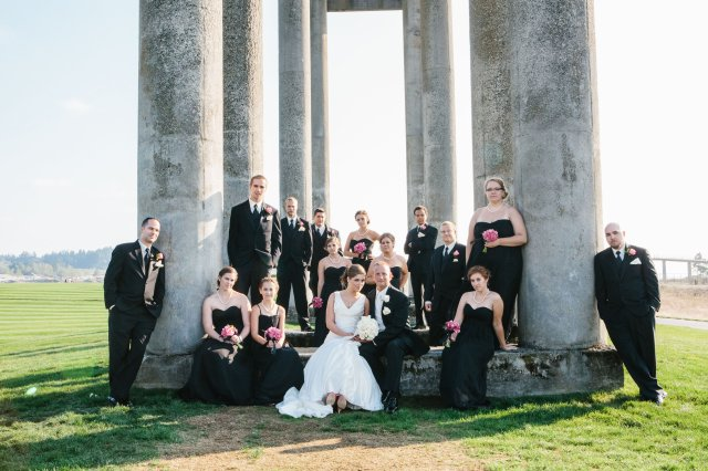 Chambers Bay Wedding, photo by Melissa Kilner | flowers by Jen's Blossoms